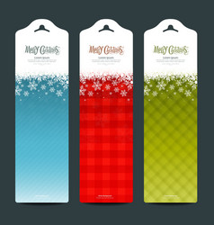 Merry Christmas background Vertical banner vector image vector image