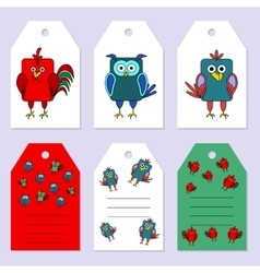 Set gift tags Stock set of children s vector image