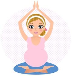 Beautiful yoga girl practicing yoga asana vector image