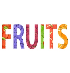 juicy fresh fruit word vector image vector image
