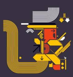 modern design shapes vector image vector image