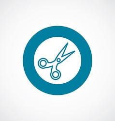scissors icon bold blue circle border vector image vector image