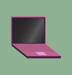 technology gadget in flat design laptop vector image