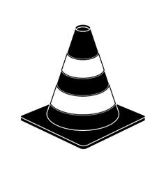 traffic cone warning sign design pictogram vector image