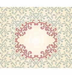 vintage pattern with floral frame vector image vector image