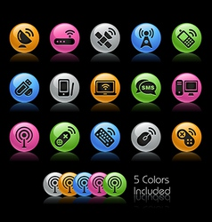 Wireless Communications Icons vector image vector image