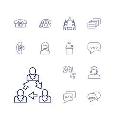 13 talk icons vector