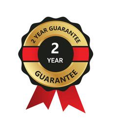 2 year guarantee badge guarantee certificate y vector