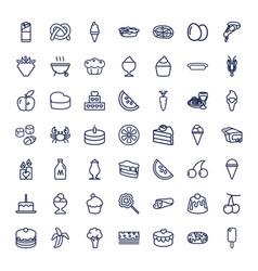 49 delicious icons vector