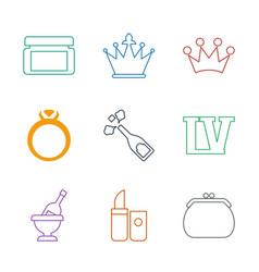 9 luxury icons vector