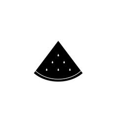 a piece of watermelon the icon black vector image