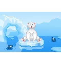 a polar bear on an arctic vector image