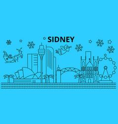 Australia sidney winter holidays skyline merry vector