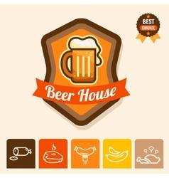 beer house emblem vector image