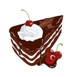 Black Forest Cake vector