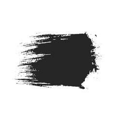 Black paintbrush stroke isolated on white vector
