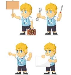 Blonde Rich Boy Customizable Mascot 16 vector