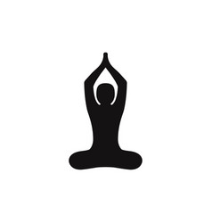 buddhist yoga pose icon vector image