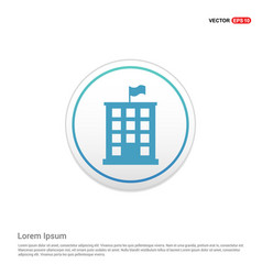 building icon - white circle button vector image