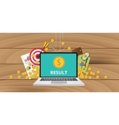 Business results concept vector