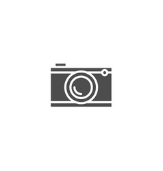 camera flat icon isolated on white background vector image