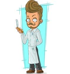 Cartoon handsome bearded stylist vector