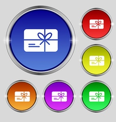 Certificate icon sign Round symbol on bright vector