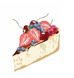 Cheesecake dessert delicious slice vector image