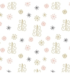 Christmas decoration pattern seamless background vector image vector image