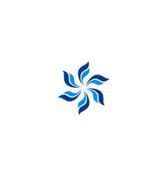 circle fly logo vector image