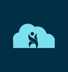 cloud logo design vector image