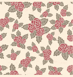 colorful seamless pattern hand drawn pink roses vector image