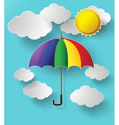 Colurful umbrella on sky vector