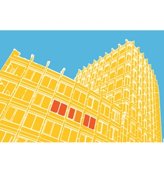 Compositiion of abstract building vector image