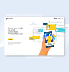Creative concepts web page design for website vector