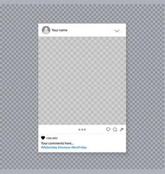 Creative of social media photo vector