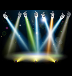 dance floor or stage lights vector image