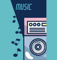 Dj turntable modern music equipment vector