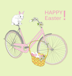 Drawing happy easter template vector
