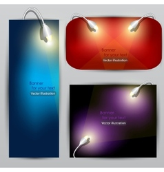 empty placard for product advertising with lightin vector image