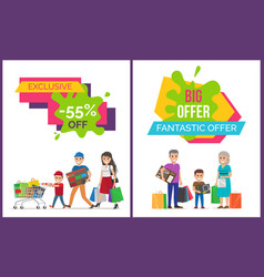 Exclusive sale fantastic offer vector