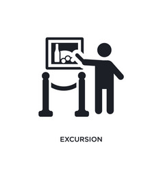 Excursion isolated icon simple element from vector