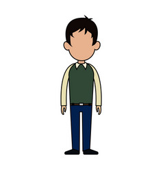 Faceless man cartoon icon image vector