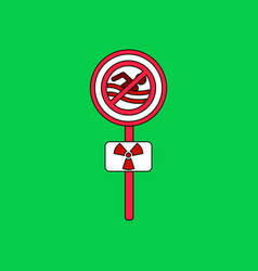 Flat icon design collection no swimming sign vector