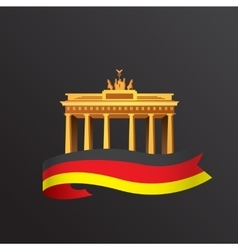 Flat icon of German Brandenburg Gate in vector