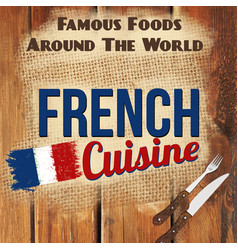 french cuisine retro style poster vector image