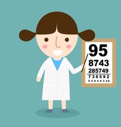 Girl doctor vector