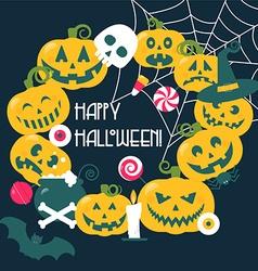 Halloween frame vector image