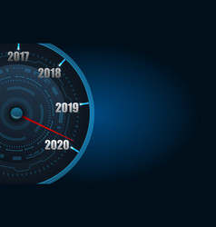 happy new year 2020 in form car speedometer vector image