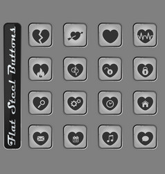 heart simply icons vector image